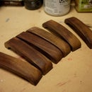 Wooden drawer pulls -  made at Techshop