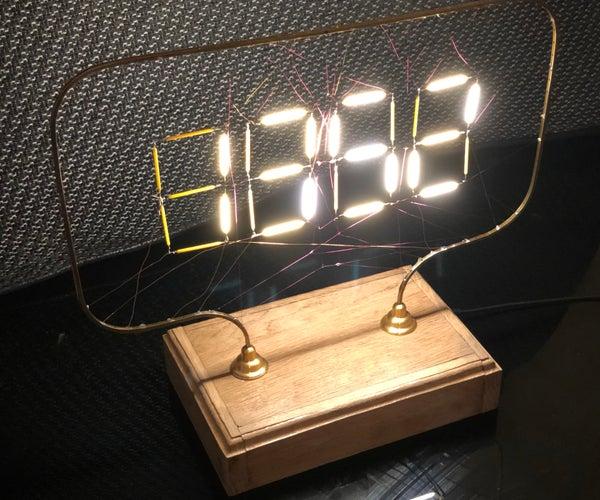 """Charlotte's Web"" Style LED Filament Clock"