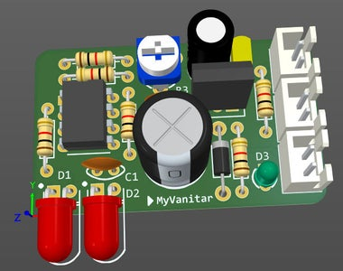 Figure-10: a 3D View From the PCB Board (top)