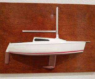 Half Model of Sailing Boat
