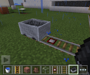 How to Build a Powered Train Track on Minecraft