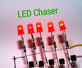 How to Make LED Chaser Using NE555 IC BC547