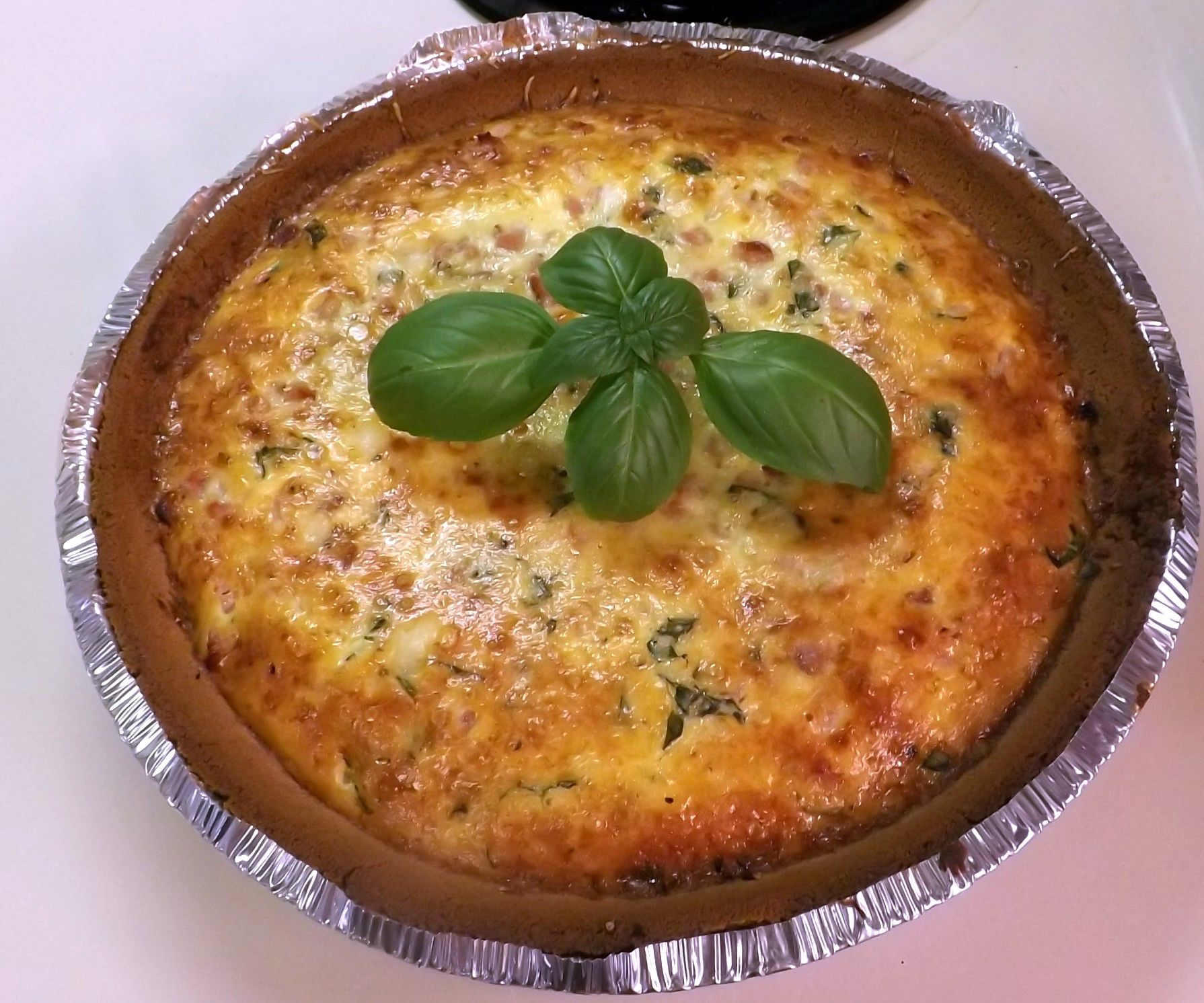 HAM, CHEESE, BASIL QUICHE (Soft Food for Sensitive Gums)