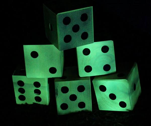 Giant Outdoor Glow-in-the-Dark Yard Dice