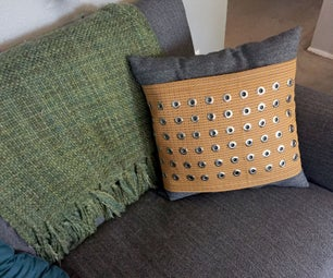 Grommet-Embellished Throw Pillow
