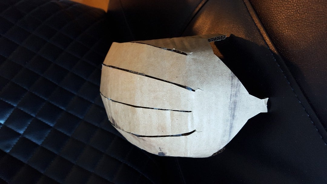 Fold and Glue the Helmet's Dome
