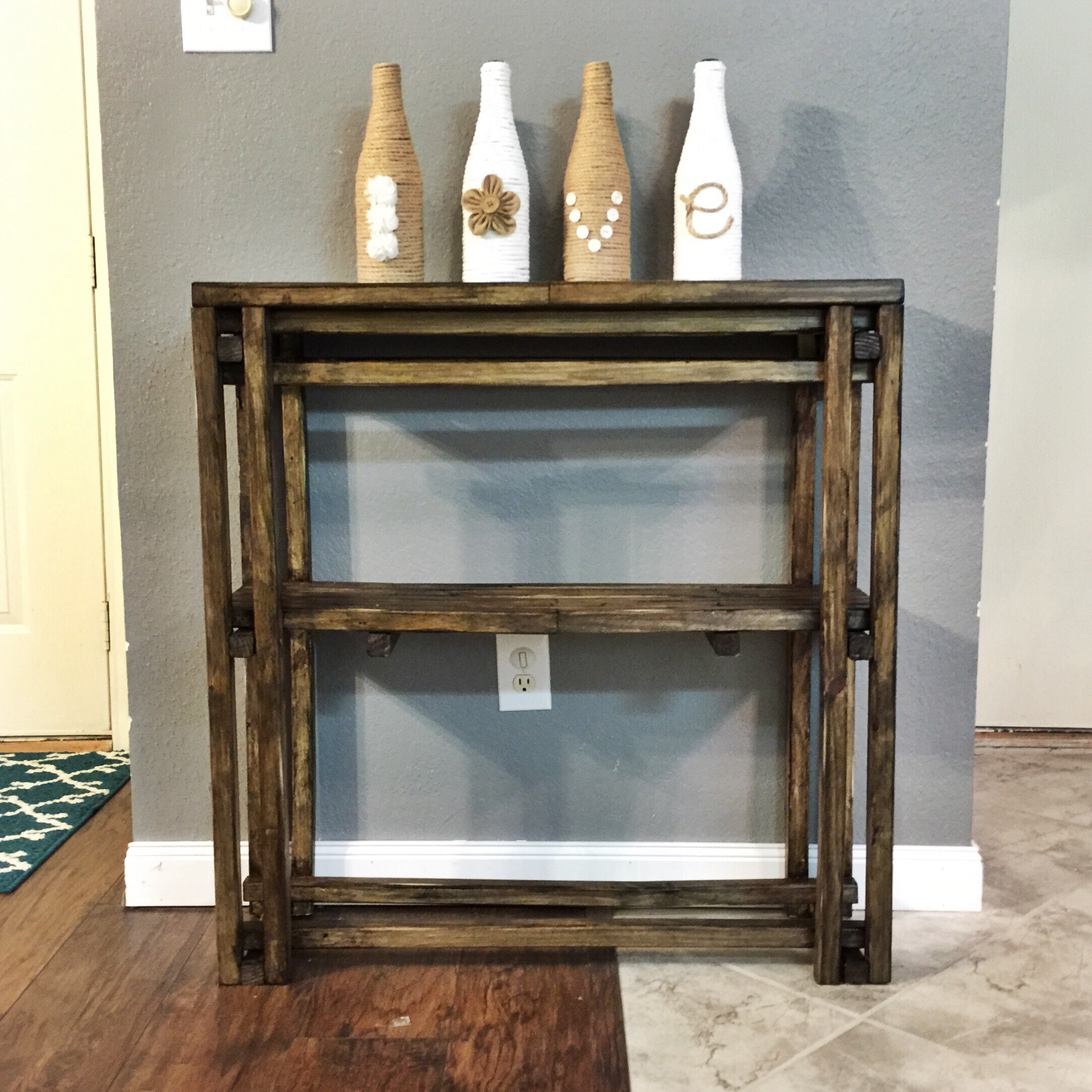 Accent Table (Built Entirely From Balusters)