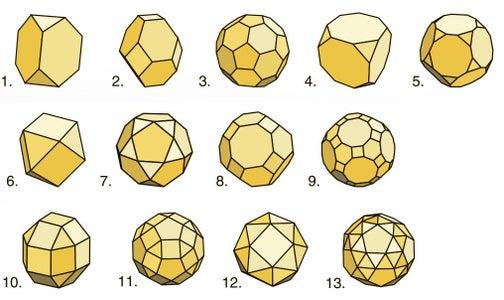 13 Archimedean Polyhedra