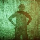 Make a silhouette glow wall