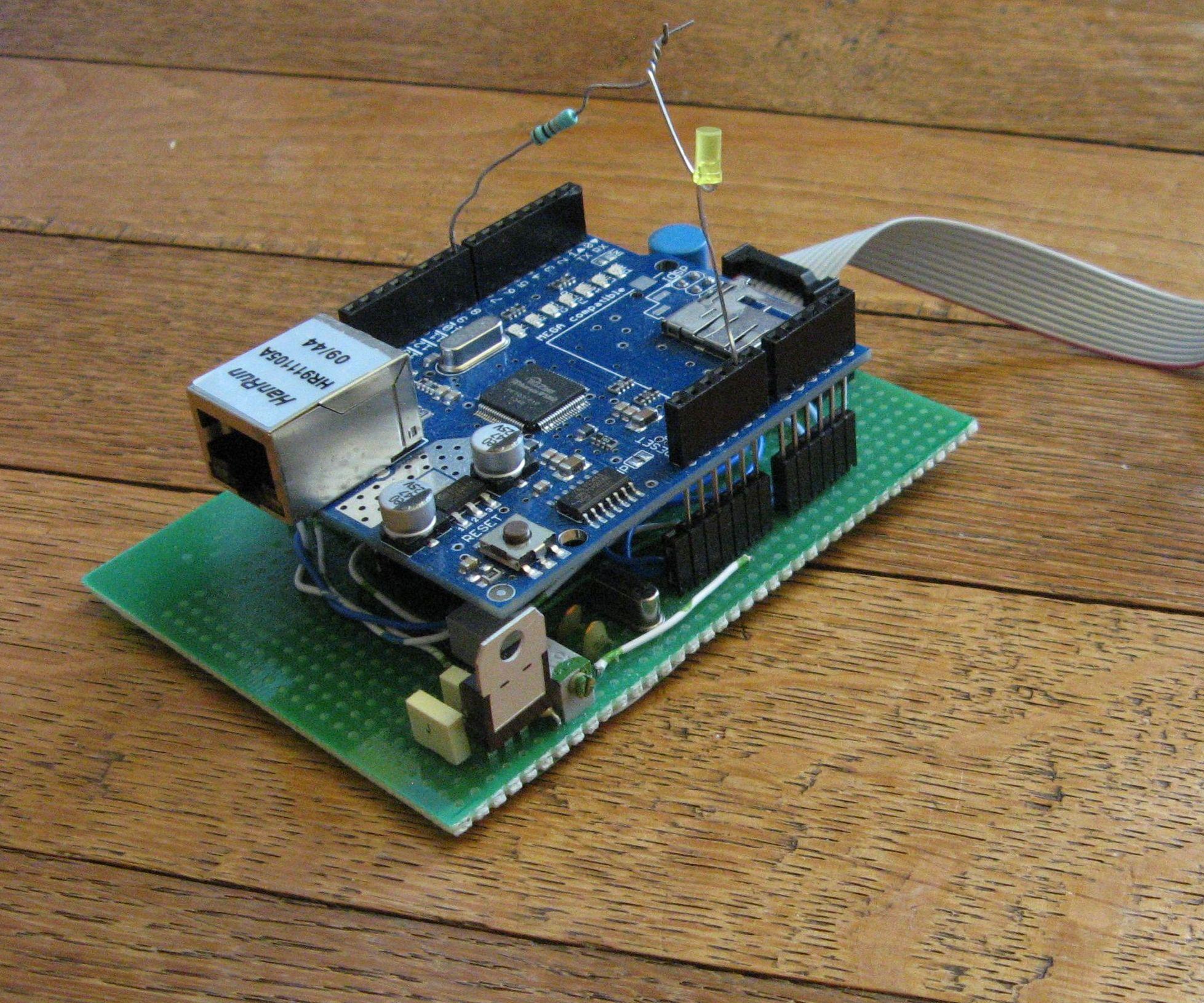 Arduino atmega644/1284 clone+ethernet shield+advancedHMI+VB NET+MODBUS TCP