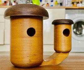 蘑菇组合-鸟舍和喂食器(3D打印)