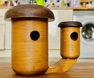 Mushrooms Duo - BirdHouse and Feeder (3D Printed)