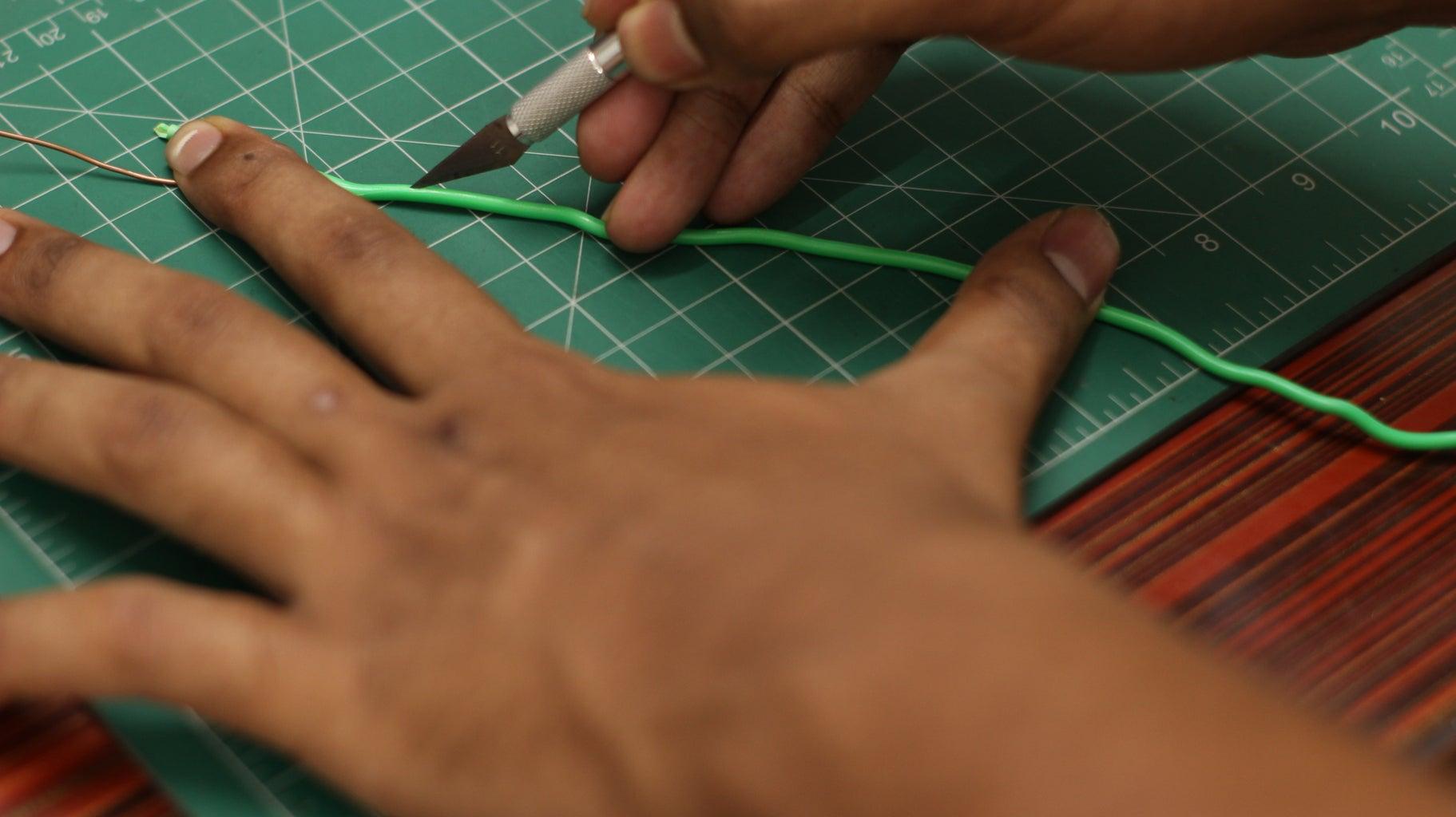 Strip the Wire Insulation