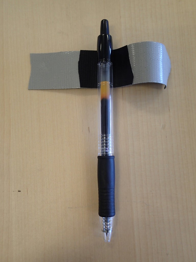 Attach Tape Using Pen As Guide