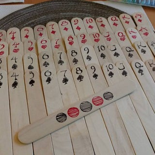 Popsicle Stick Playing Cards