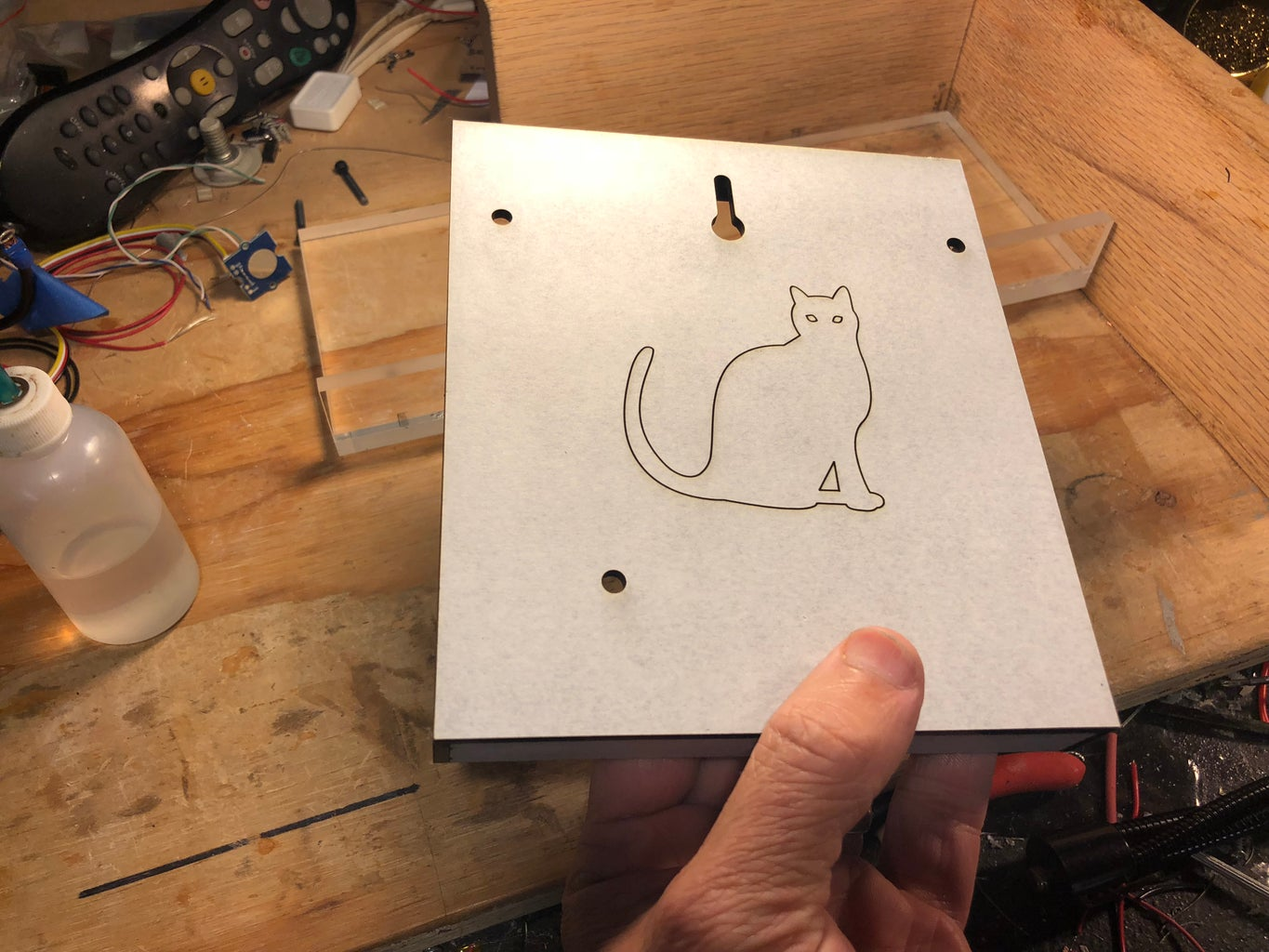 Glueing Together the Back Case Cover