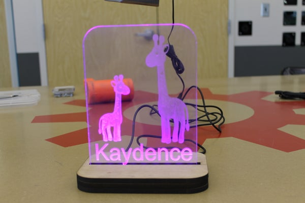 A Night Light Made on Lasers