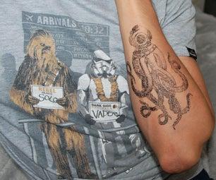 Make a Temporary Tattoo Using Tape and Printer