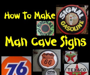 How to Make Man Cave Signs