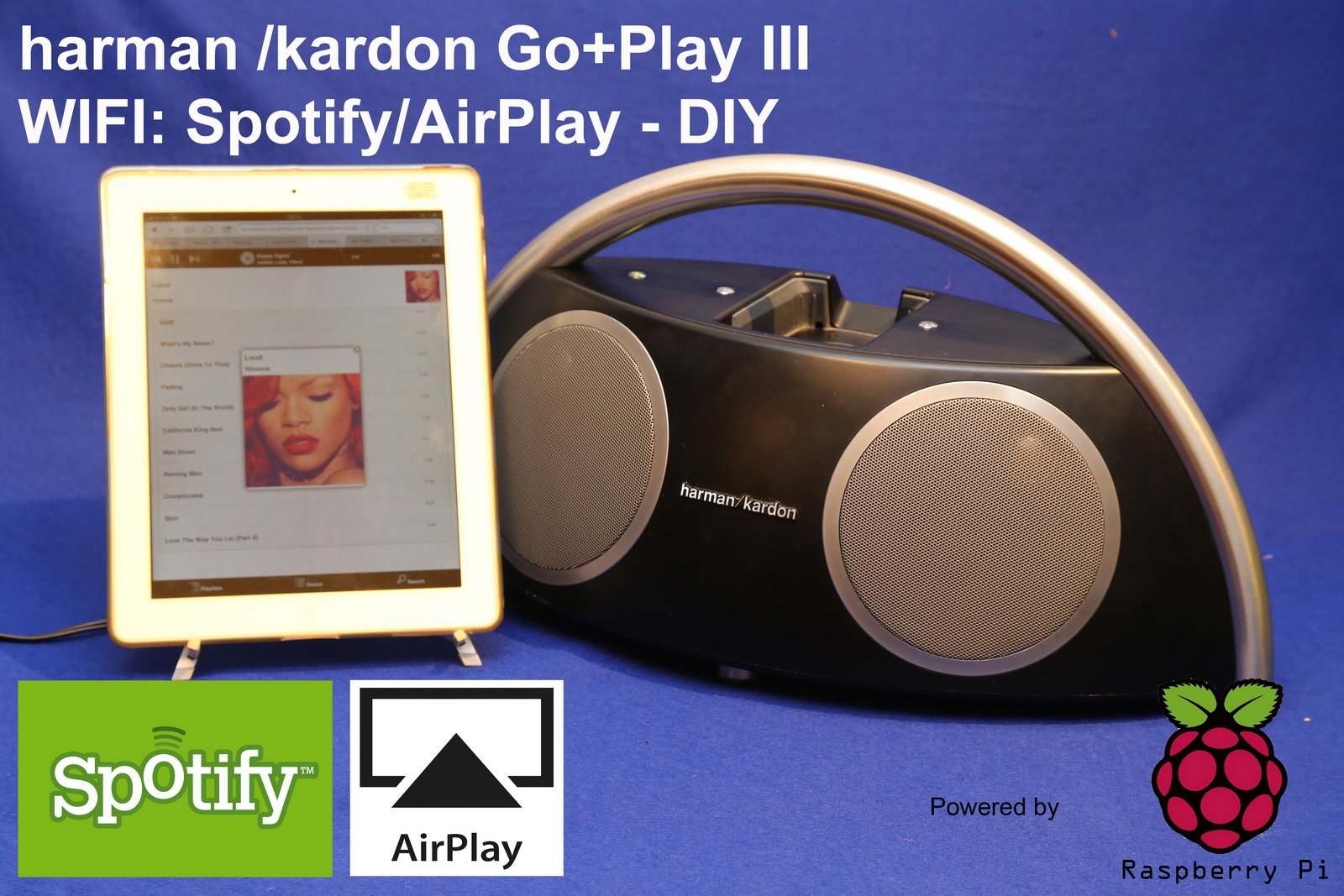 Spotify & Airplay Boombox from a HK Go+Play II