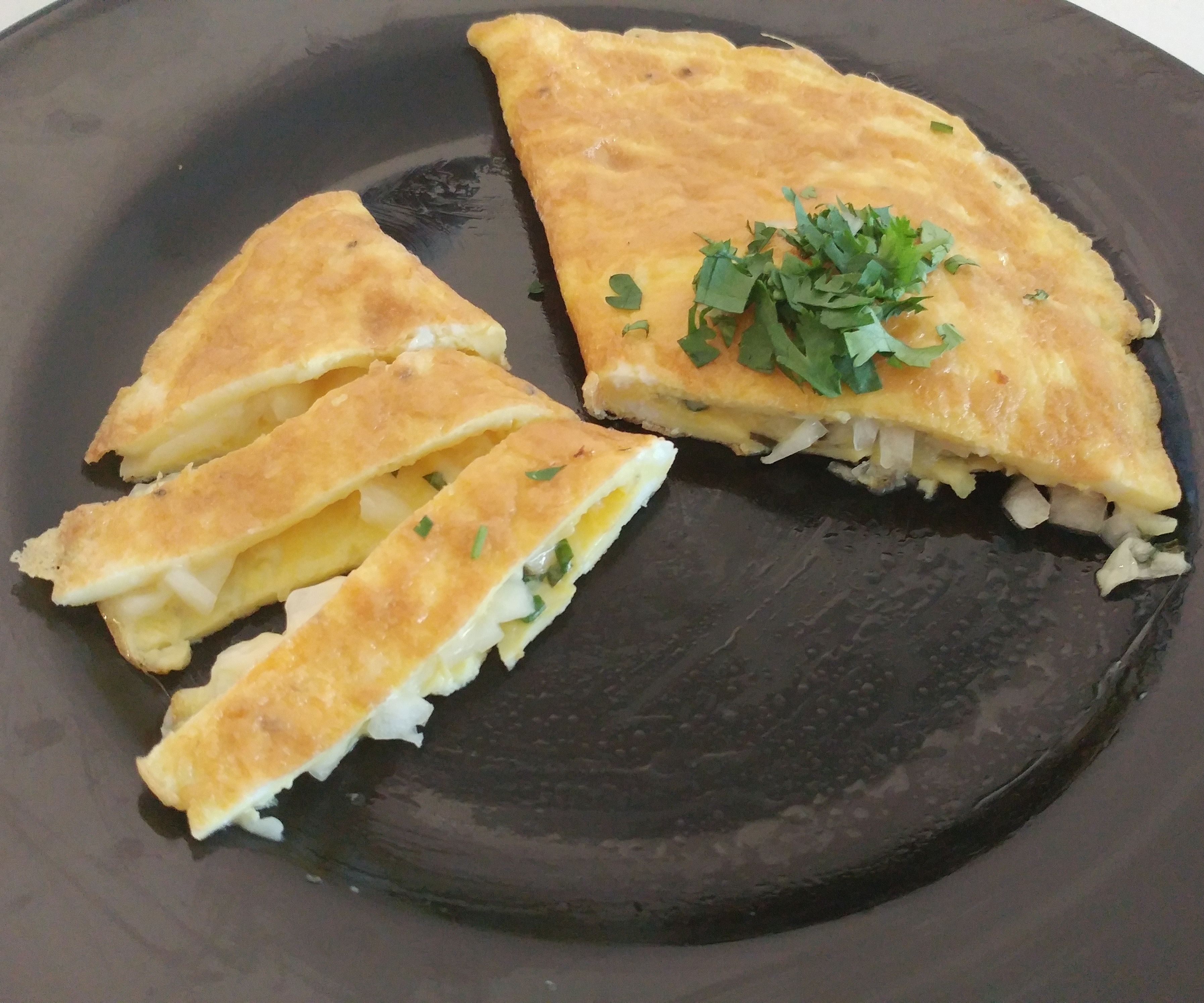 Traditional Omelette (cheese and Basil Filling)