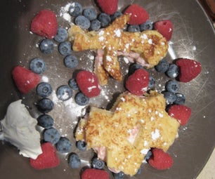 Easy Stuffed French Toast Shapes.