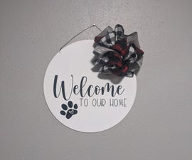 How to Make a Hanging Welcome Sign