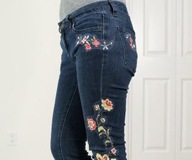 Customize Jeans With DIY Appliques and Patches