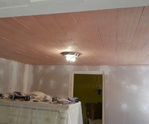 Faux Wide Board Ceiling