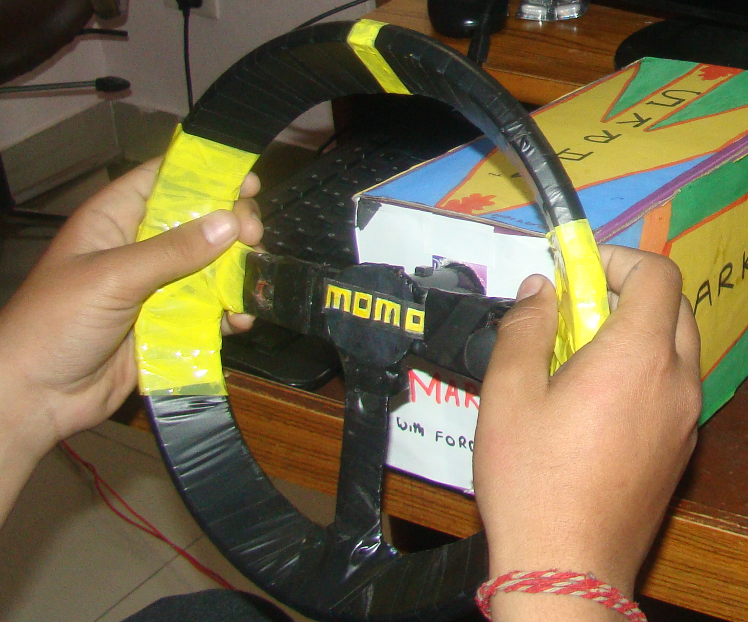 DIY Homemade Steering Wheel USB PC with Viberation