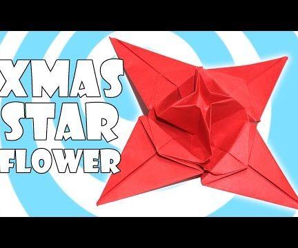 Origami Christmas Star Flower