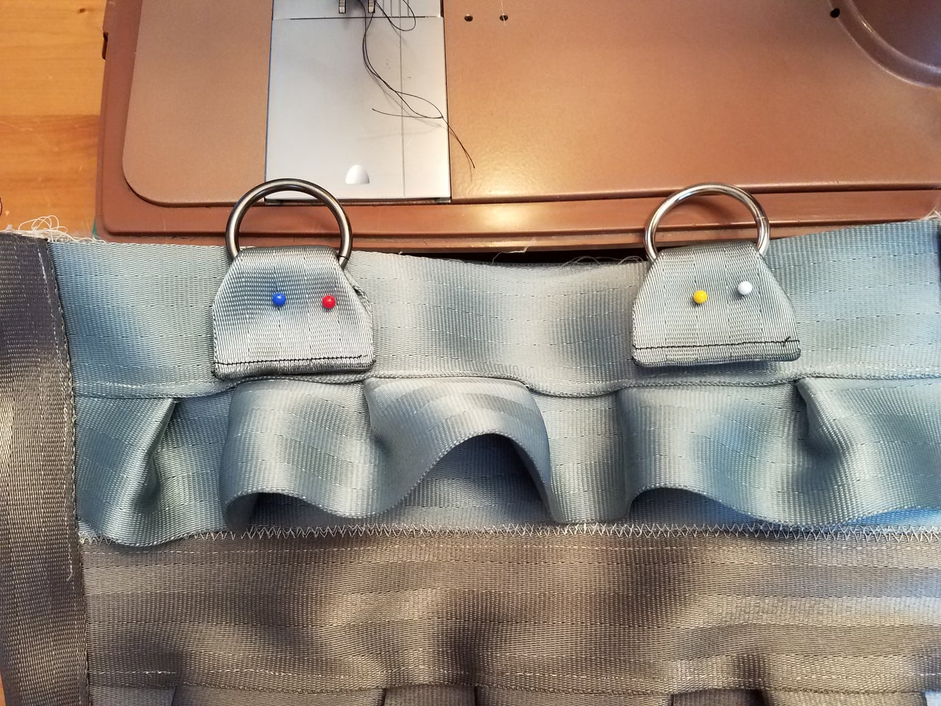 Attach Handle Fasteners to Outside of Bag