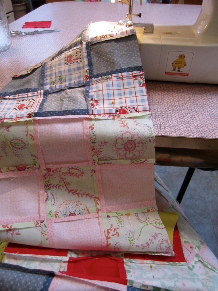 Sewing the Quilt Top Together, Part 2.