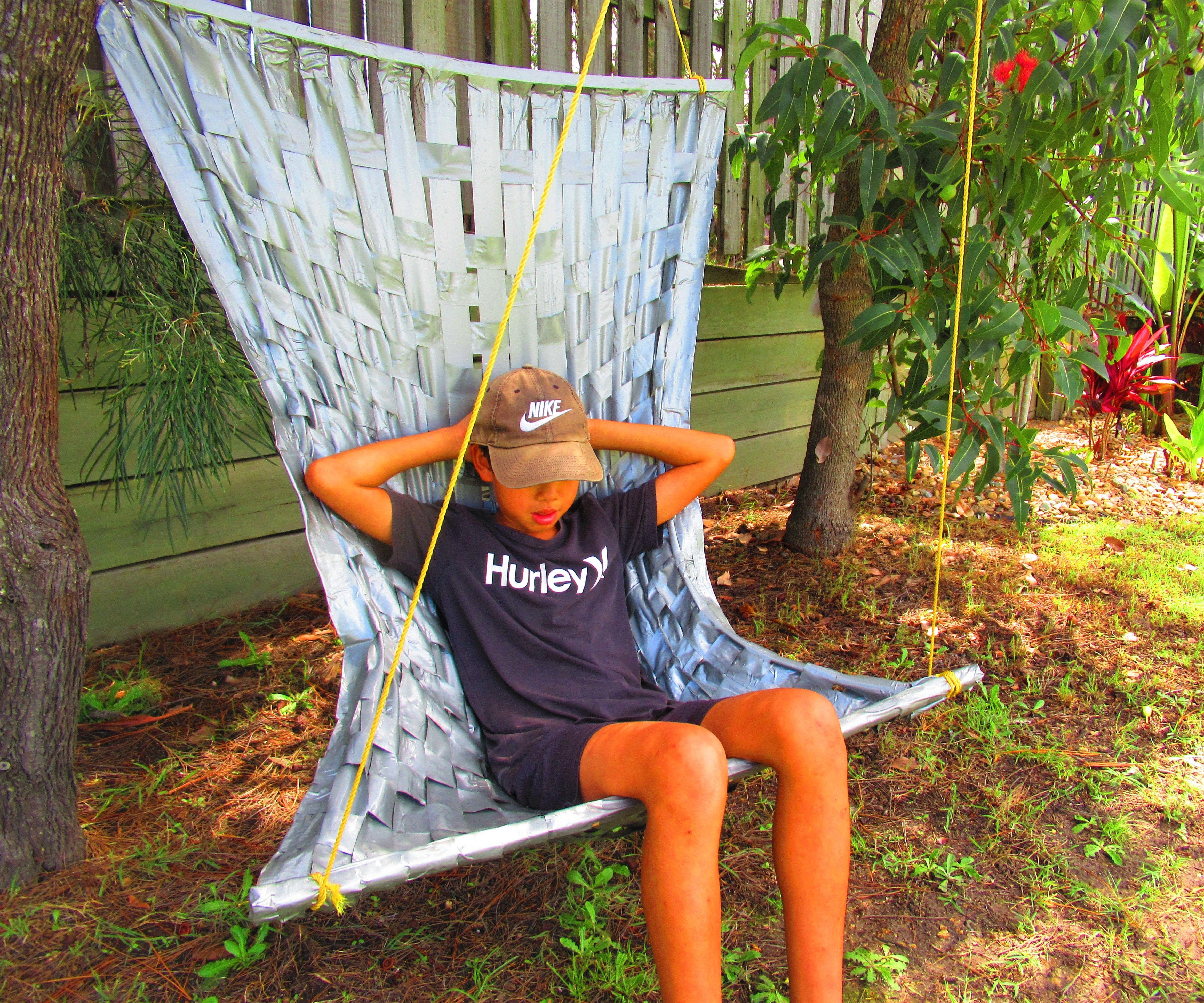 Woven Duck Tape Hammock Chair