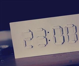 Reloj Digital / Analógico - Arduino + Arte De Papel