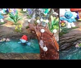 How to Make Landscape the Smurfs Diorama|Resin Art|Cartoons Network