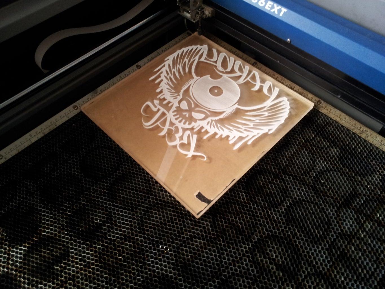 Laser the Acrylic Panel:
