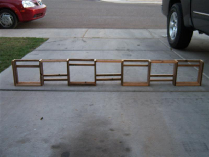 How to Build a Custom Shelf Unit: Recycling at the same time