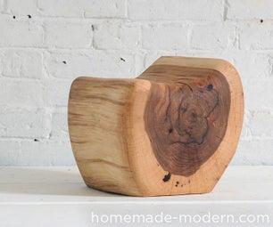HomeMade Modern DIY Little Log Chair