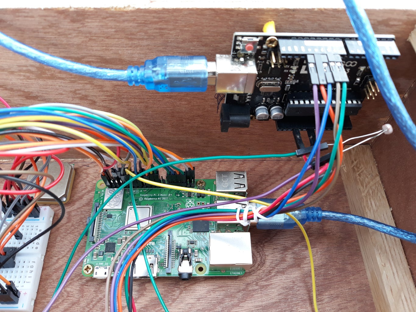 Attach the Arduino & RFID Scanner to the Side