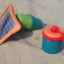Solar Supercapacitor Charger and LED Jar