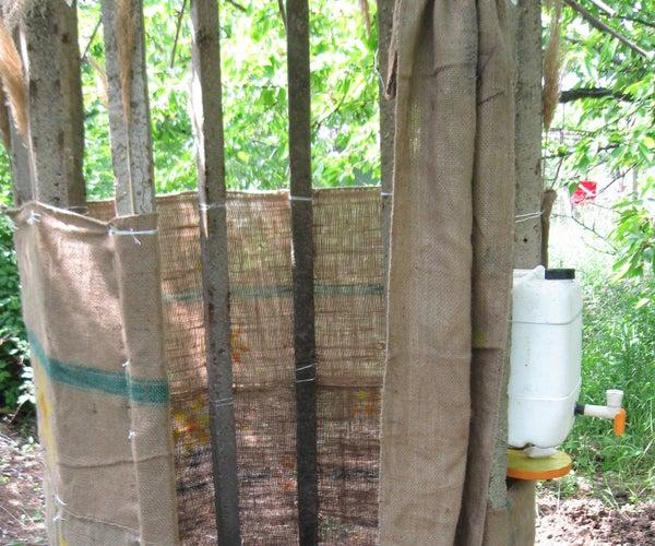 Composting Toilet in the Garden