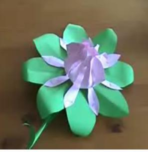 Paper flower .Easy way.