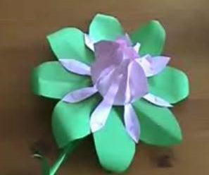 Paper Flower .Easy Way.