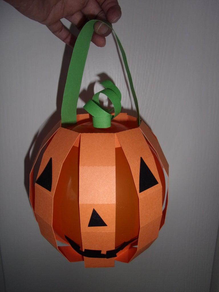 Paper Pumpkin Halloween Lantern