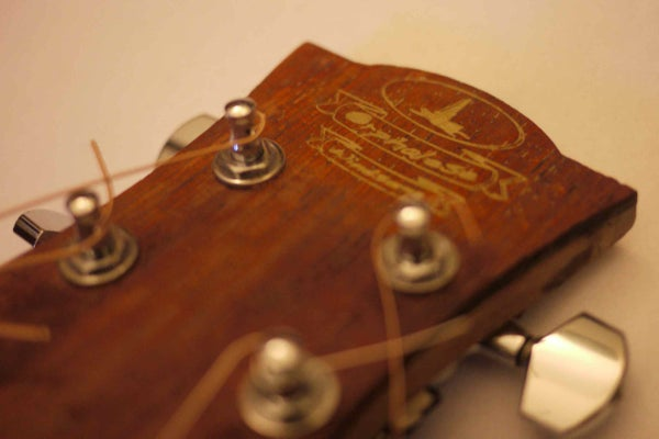 Liquid Inlaid, Laser Cut Guitar Headstock - Made at Techshop
