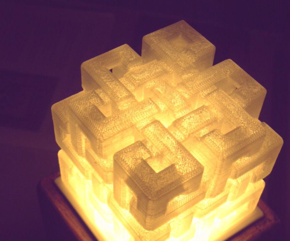 Eternal Knot Hollow Cube Lamp.