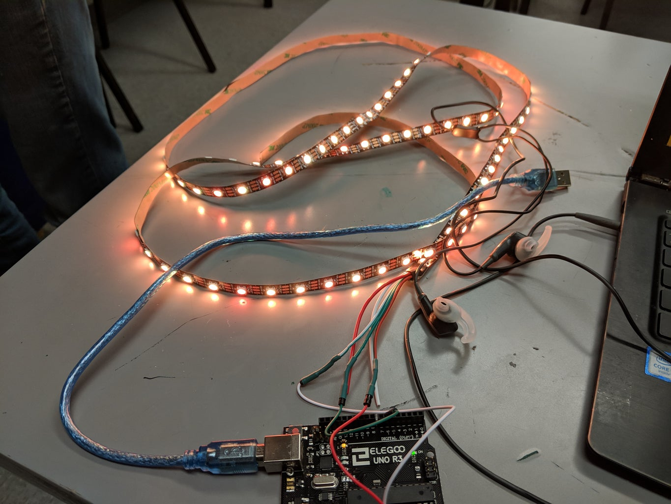 Coding the Neopixel Flame Effect