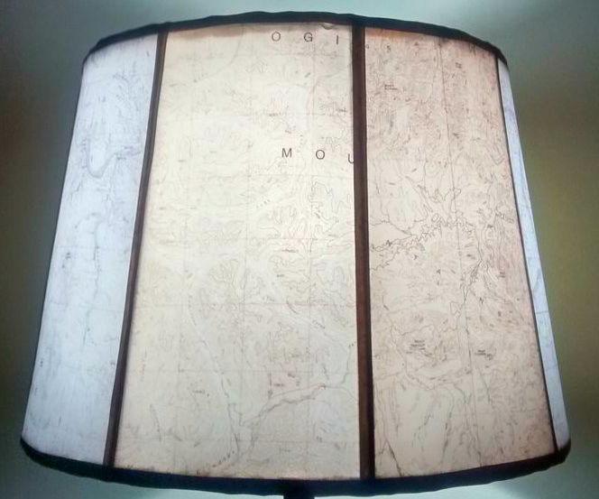 Velum Map Lampshade