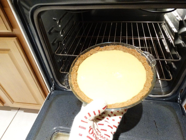 Pour Pie Filling Into Crust...